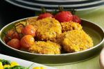 British Cottage Cheese And Walnut Fritters With Roasted Cherry Truss Tomatoes Recipe Appetizer