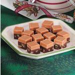 Canadian Twotone Fudge Dessert