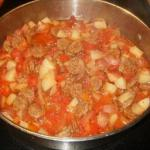 Italian One Skillet- Italian Sausage and Harvest Vegetable Stew Soup