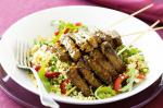 Moroccan Moroccan Lamb Skewers With Couscous Recipe Appetizer