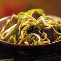 Chinese Chicken and Green Vegetables Dinner