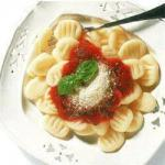 Italian Gnocchi with Tomato and Basil Sauce Appetizer