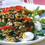 Italian Wild Rice Salad with Tomato and Pepper Appetizer