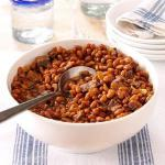 American Slowcooked Boston Beans Dinner
