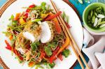 American Misocrusted Chicken With Soba Noodle Salad Recipe Appetizer