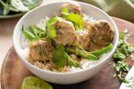 American Pork Meatball Green Curry Recipe Dinner