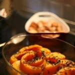 British Pumpkin Cooked in the Oven with Herbs Appetizer