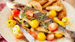 American Greekstyle Fish With Marinated Tomatoes Recipe Dinner