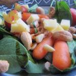 American Salad with Shoots of Spinach Appetizer