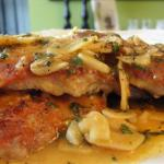 Canadian Proscuitto Pork Cutlets with Garlic Sage Lemon Sauce Drink