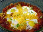 American Baked Eggs With Salsa Appetizer