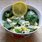British Spinach Salad with Orzo and Feta Dinner