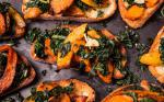 American Butternut Squash and Kale Toasts Recipe Appetizer