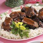 American Short Ribs with Plums Dinner