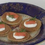 Blinis russian Pancakes of Flour Gryczanej with Smoked Salmon recipe