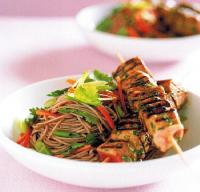 Taiwanese Tuna Skewers with Sesame Soba Noodles Dinner