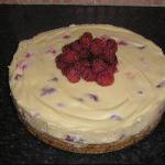 American Cheesecake White Chocolate and Raspberry Without Eggs Dessert