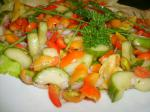 American Tomato  Cucumber Salad With Mint Appetizer