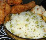 Orange Rice With Peas and Pearl Onions recipe