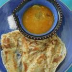Indian Roti Canaiparatha indian Bread Appetizer