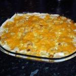 American Gratin of Pasta in Creamy Sauce of Chicken with Bacon Appetizer