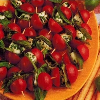 American Bocconcini Tomato Skewers Appetizer
