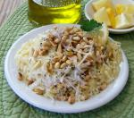 American Lemon Orzo With Pine Nuts Appetizer