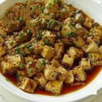 Chinese Crisp Fried Tofu ma Po Tofu Appetizer