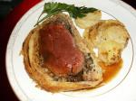American Beef Wellington With Truffle Madeira Sauce Appetizer