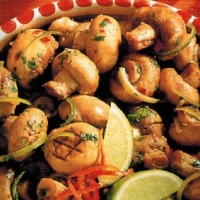 Romanian Mushrooms In Lime And Chilli Appetizer