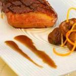 American Duck Breast Fillet with Caramelised Herbal Sauce Dessert