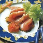 Canadian Stained Salmon with Onion Confit Appetizer