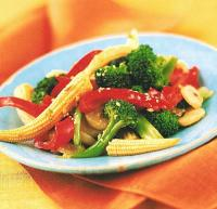 American Vegetable Stir-fry with Spicy Garlic Sauce Appetizer