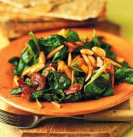 American Wilted Spinach White Bean and Bacon Salad Appetizer