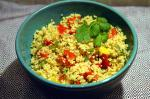 American Couscous with Three Peppers Appetizer