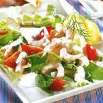 American Seafood Salad and Yogurt Appetizer