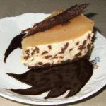 American Cheesecake with Chocolate and Pears Dessert