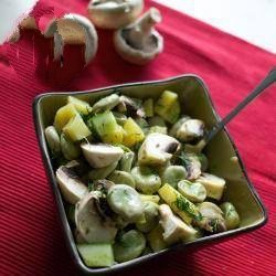 Russian Smallest Intention of Spring Salad with Beans Potatoes Mushrooms and Mushrooms Japanese Soups are Believed to Each Day but t Appetizer