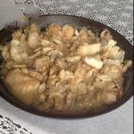 is Very Gentle Vyborg in Cream Sauce with Mushrooms and Fried Onion You Can Optionally Add the Dill or Parsley recipe
