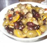 Australian Spiced Marinated Olives and Mushrooms Drink