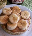 American Rice Cake With Almond Butter and Bananas Dessert