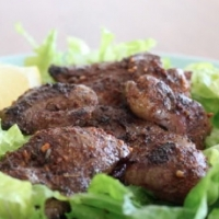 Brazilian Chicken Livers with Lemon and Garlic Appetizer