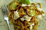 Australian Crab and Zucchini Linguine Dinner