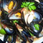 American Mussels and Beans Dinner