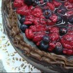 American Chocolate Cake and Fruits of the Forest Dessert