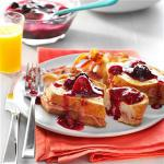 French Stuffed French Toast with Maple Berry Sauce Breakfast