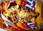 British Frito Pie with  Hour Texas Chili Drink