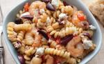 Greek Greek Pasta with Shrimp Feta Tomatoes and Olives Recipe Appetizer