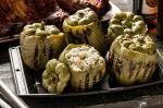 American Stuffed Bell Peppers with Feta and Herbs Recipe BBQ Grill