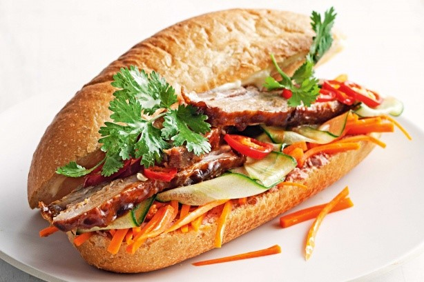 Vietnamese Sticky Pork Belly Banh Mi Recipe Appetizer